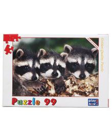 Play Now Raccoon Cubs Puzzle Set Mutlicolor - 99 Pieces