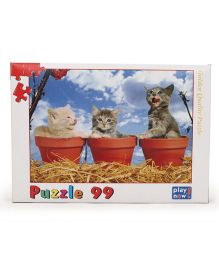 Play Now Kitten In Pot Puzzle Set Mutlicolor - 99 Pieces