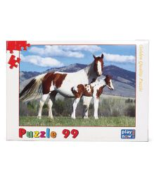 Play Now Countryside Horses Puzzle Set Mutlicolor - 99 Pieces