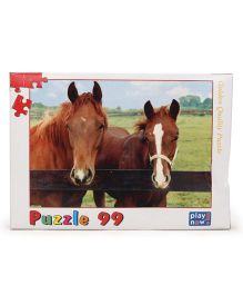 Play Now Horses In Pen Puzzle Set Mutlicolor - 99 Pieces