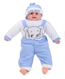 Smart Picks Happy Baby Print Laughing Baby Doll - Blue