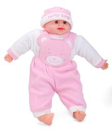 Smart Picks Happy Baby Print Laughing Baby Doll - Pink