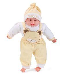 Smart Picks Happy Baby Print Laughing Baby Doll - Yellow