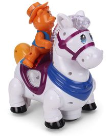 Toymaster Funny Horse With Light And Music - White