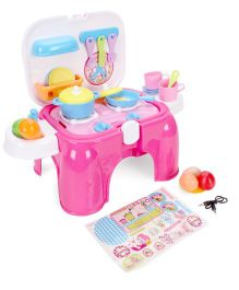 Toymaster Kitchen Set Pink - 24 Pieces