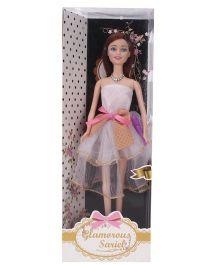 Toymaster Glamorous Sariel Doll Set White - 11 Inches