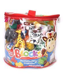 Toymaster Small Animal Blocks - 43 Pieces