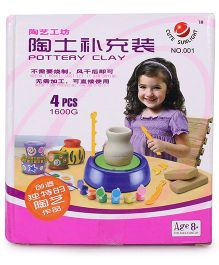 Toymaster Pottery Clay - 4 Pieces