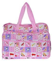 JG Shoppe Cutesy Baby Bag Multi Print - Pink