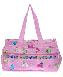 JG Shoppe Cutesy Baby Bag Multi Print - Pink