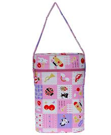 JG Shoppe Cutesy Baby Water Bottle Bag Fits Upto 500 ml Each - Pink