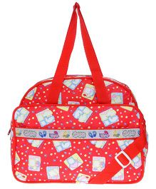 JG Shoppe Cutesy Baby Bag Multi Print - Red