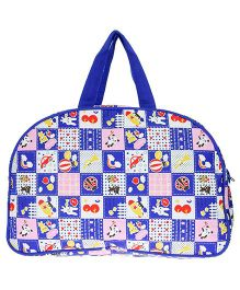 JG Shoppe Cutesy Baby Bag Multi Print - Blue