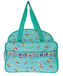 JG Shoppe Cutesy Baby Bag Multi Print - Green