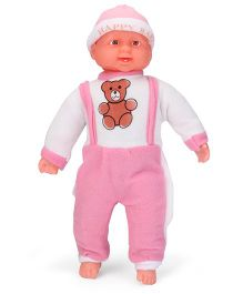 Kids Zone Laughing Baby Doll Pink - Height 40 cm
