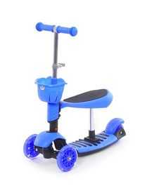 Flyers Bay 3 In 1 Sit Or Kick Height Adjustable Scooter - Blue