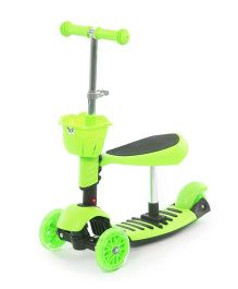 Flyers Bay 3 In 1 Sit Or Kick Height Adjustable Scooter - Green