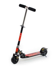 The Flyer's Bay Tractor Wheel Cool Design Kick Scooter - Black