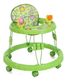 Mothertouch Chikoo Round Musical Walker Deluxe Green - CRWG