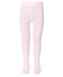 Mustang Plain Solid Color Tight Stockings - Light Pink