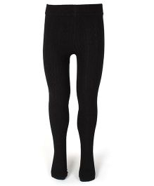 Mustang Footed Plain Tights Stockings - Black