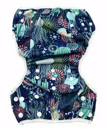 Wanna Party Swim Diaper Jelly Fish Print - Multi Color