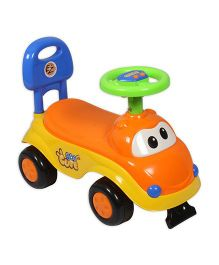EZ' Playmates Cute Car Ride on - Orange And Yellow