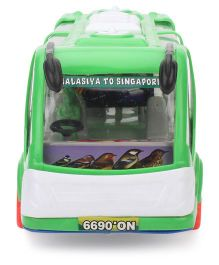 Kids Zone Friction Toy Rocky Tour Bus - Green