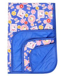 1st Step Baby Mat With Cute Rabbit Prints - Blue