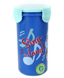 Tom And Jerry Tumbler With Lid - Navy and Aqua Blue