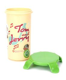 Tom And Jerry Tumbler With Lid - Cream and Green