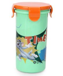 Tom And Jerry Tumbler With Lid - Green And Orange