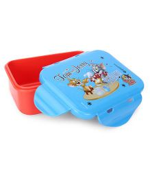 Tom And Jerry Mini Lunch Box - Orange And Sky Blue