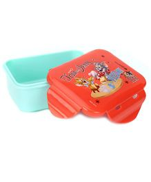Tom And Jerry Mini Lunch Box - Aqua Blue and Orange