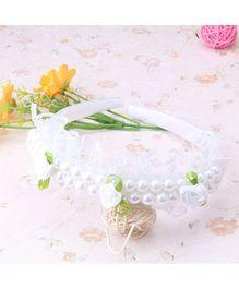 Wow Kiddos Princess Lace Hairband - White