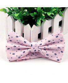 Wow Kiddos Printed Bow Tie - Light Pink