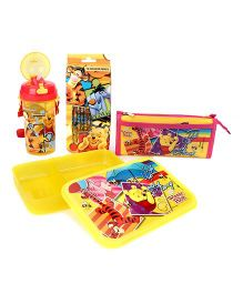 Winnie The Pooh School Kit Yellow & Red - Pack of 4