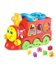 Huile Toys Smart Train With Light Sound And Puzzle - Red