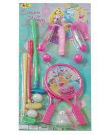 Disney Princess 3 In 1 Golf Racket And Skipping Rope Set