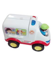 Huile Toys All Around Ambulance Car - White