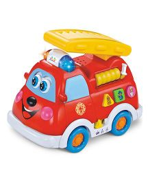 Huile Toys Fire Truck With Music And Light - Red