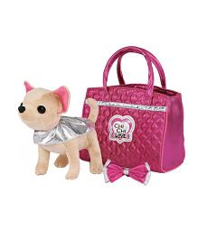 Simba Chi Chi Love Glam Fashion Doggy Toy With Bag Silver And Pink - 7 Inches