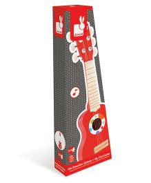 Janod Wooden Confetti Guitar - Red And White