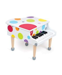 Janod Confetti Grand Piano - White