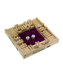 Ideal 4 Way Countdown Wooden Game - Beige
