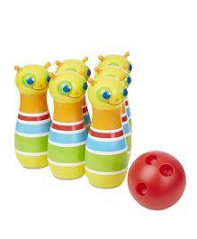 Melissa And Doug Bug Bowling Set - Yellow And Red