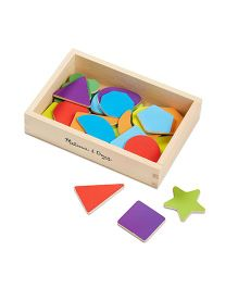 Melissa And Doug Wooden Shape Magnets Multicolor - 25 Pieces