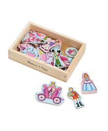 Melissa And Doug Wooden Princess Magnets - 20 Pieces