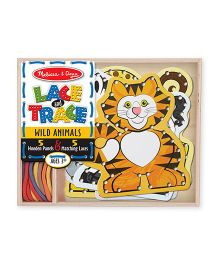 Melissa & Doug Lace And Trace Wild Animals - Multicolor