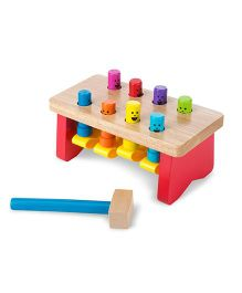 Melissa And Doug Pounding Bench - Multicolor